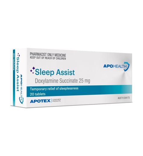 Apohealth Sleep Assist (Doxylamine Succinate) 25mg Tablets 20