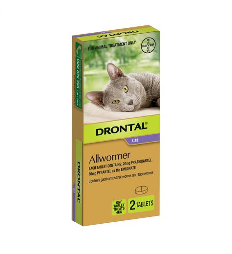 Drontal Cat Allwormer Tablets 2 Pack