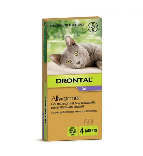 Drontal Allwormer 4 Tablets For Cat