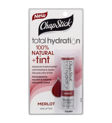 Chapstick Total Hydration 100 % Natural + Tint Merlot 3.5g