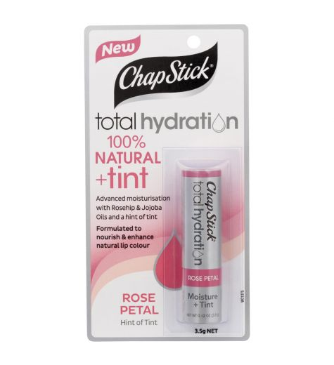 Chapstick Total Hydration 100% Natural + Tint Rose Petal
