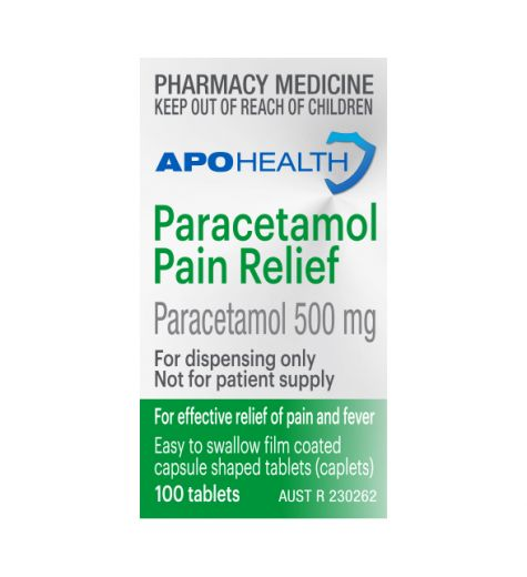 Apohealth Paracetamol Pain Relief 500mg Tablets 100