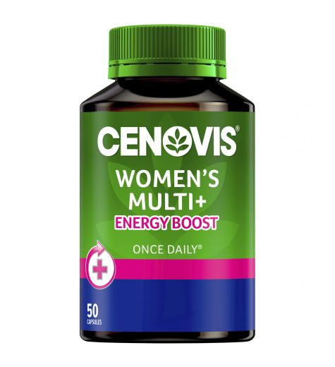 Cenovis Women's Multi + Energy Boost 50 Capsules