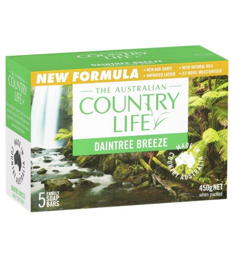 Country Life Daintree Breeze Soap Bars 5 Pack