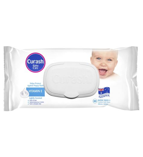 Curash Baby Wipes Soap Free 80 Pack