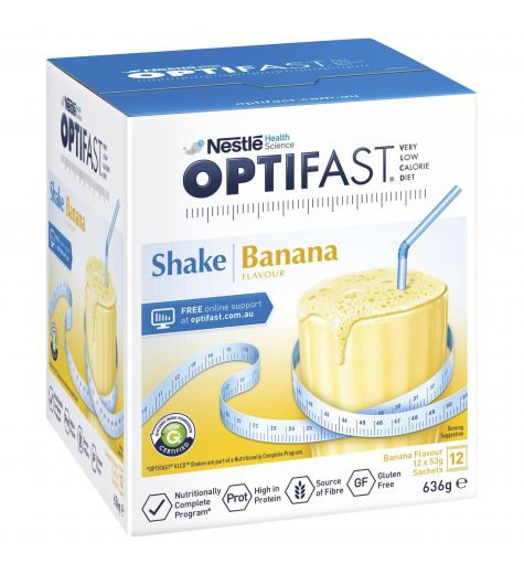 Optifast VLCD Banana 53g x 12 Sachets