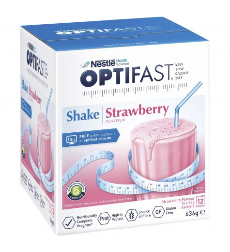 Optifast Shake Strawberry 53g x 12 Sachets