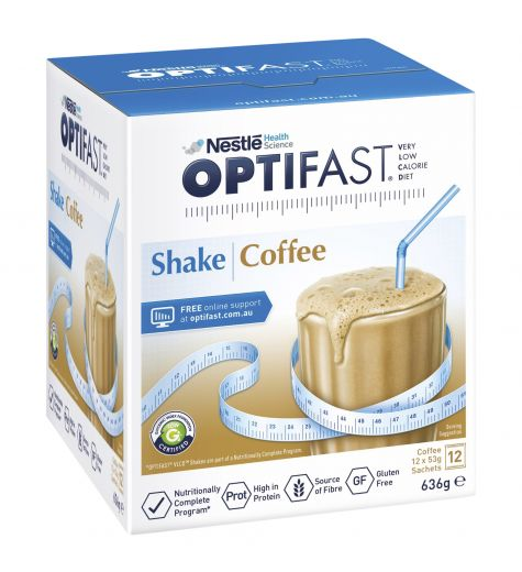 Optifast Shake Coffee 53g x 12 Sachets