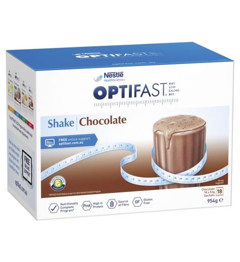 Optifast Shake Chocolate 954g 18 Pack