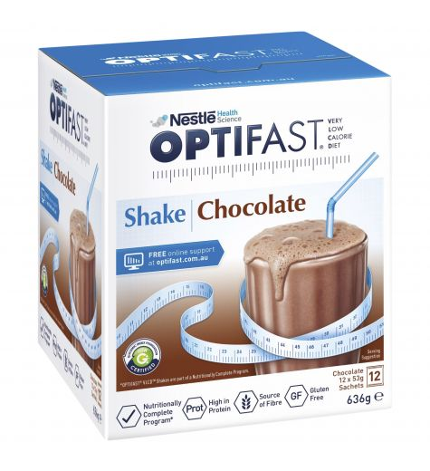 Optifast Shake Chocolate 53g x 12 Sachets