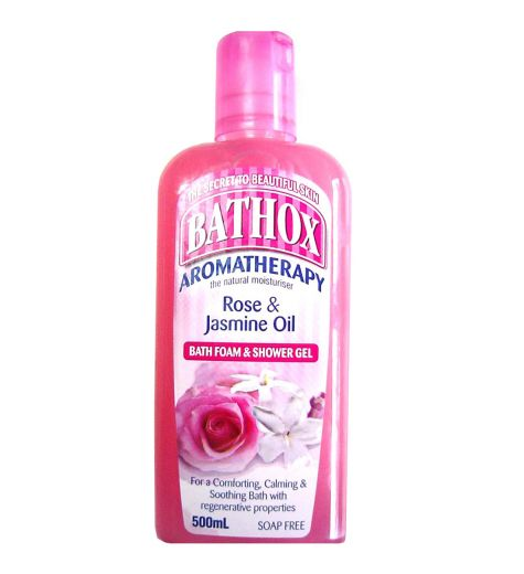 Bathox Shower Gel & Bath Foam Rose & Jasmine Oil 500ml