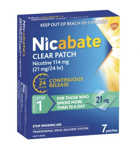 Nicabate CQ Clear 21mg 7 Patches
