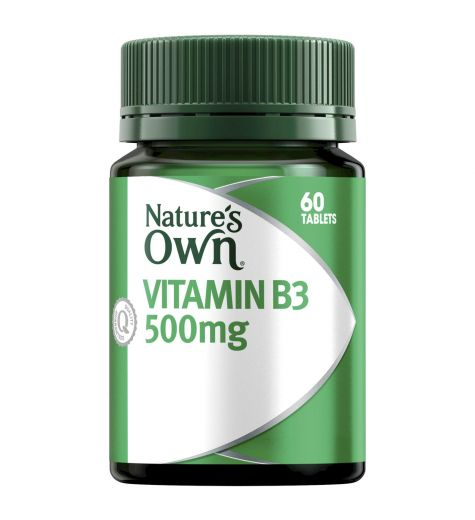 Natures Own Vitamin B3 500mg Tablets 60