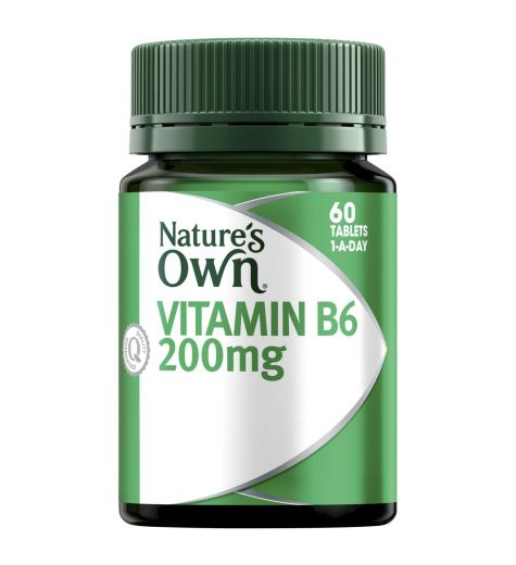 Natures Own Vitamin B6 200mg 60 Tablets