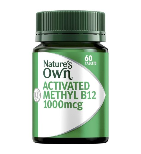 Natures Own Activated Methyl B12 1000mcg 60 Sublingual Mini Tablets