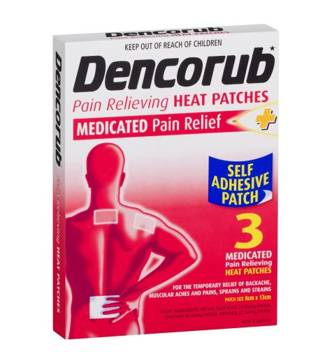 Dencorub Pain Relief Heat Patch 3 Pack