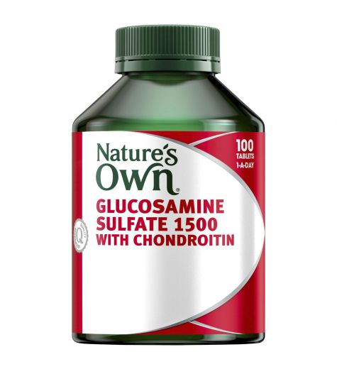 Natures Own Glucosamine Sulfate 1500mg + Chondroitin 100 Tablets