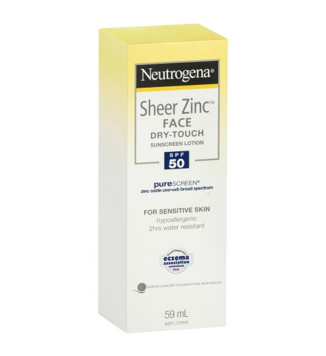 Neutrogena Sheer Zinc Dry Touch Face Lotion SPF 50 59ml