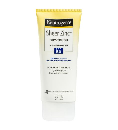 Neutrogena Sheer Zinc Dry Touch Sunscreen Lotion SPF 50 88ml