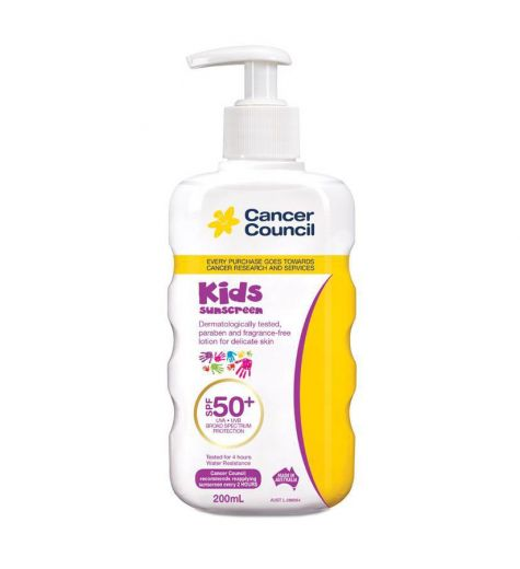 Cancer Council Kids Sunscreen Pump SPF 50+ 200ml