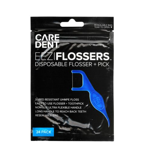 Caredent Eezi Disposable Flosser + Pick 24 Pack