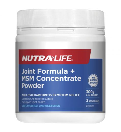 Nutra-Life Glucosamine Chondroitin MSM Joint Food Concentrate 300g Oral Powder