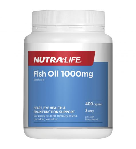 Nutra-Life Fish Oil 1000mg 400 Capsules