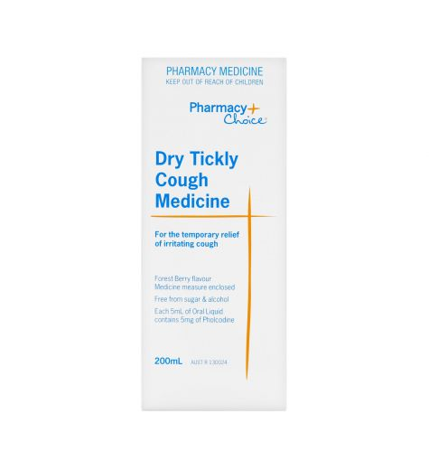 Pharmacy Choice Dry Tickly Cough Syrup 200ml