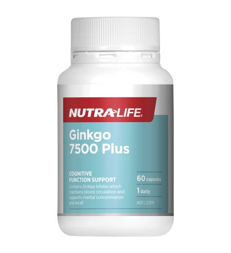 Nutra-Life Ginkgo 7500 Plus 60 Capsules