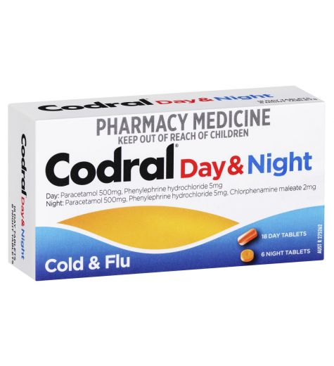 Codral PE Cold & Flu Day/Night Tablets 24