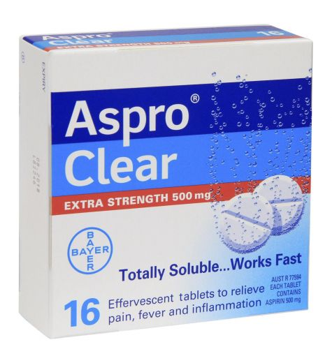 Aspro Clear Extra Strength Tablets 16