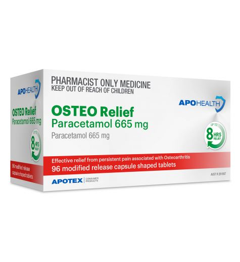 Apohealth Osteo Relief Paracetamol 65mg Tablets 96