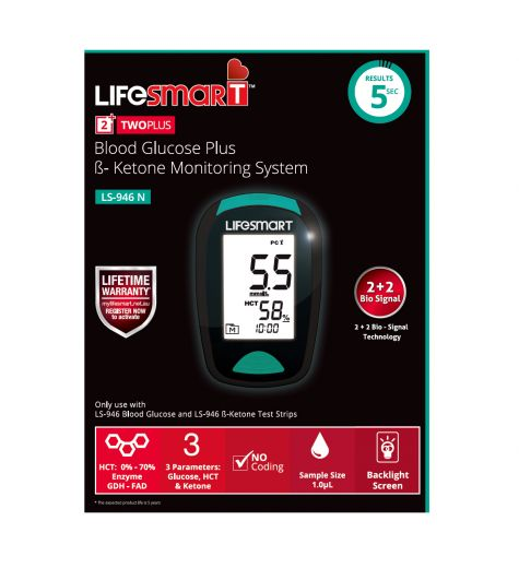 LifeSmart Two Plus Blood Glucose B-Ketone Monitoring System