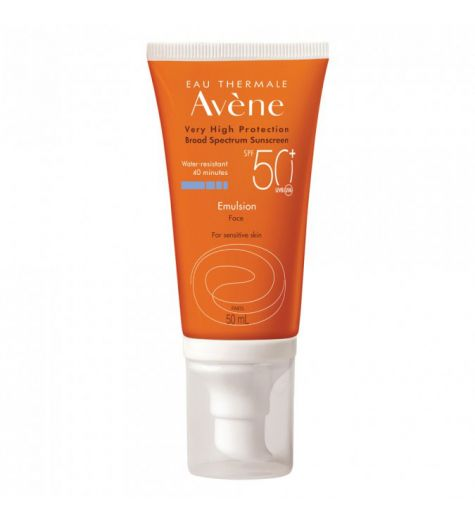 Avene Water Resistant SPF 50+ Face Emulsion Sensitive Skin 50ml