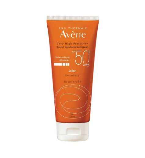 Avene Water Resistant SPF 50+ Face & Body Lotion For Sensitive Skin 100ml