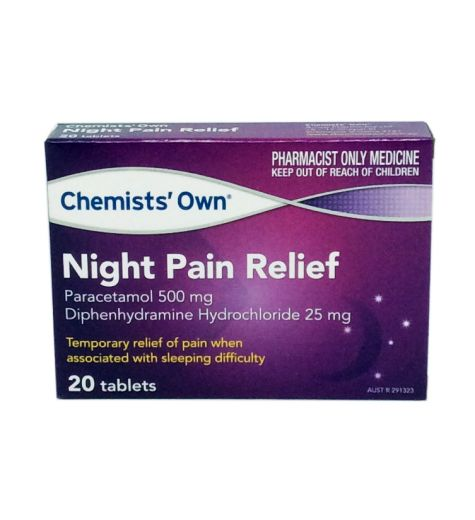Chemists Own Night Pain Relief 20 Tablets
