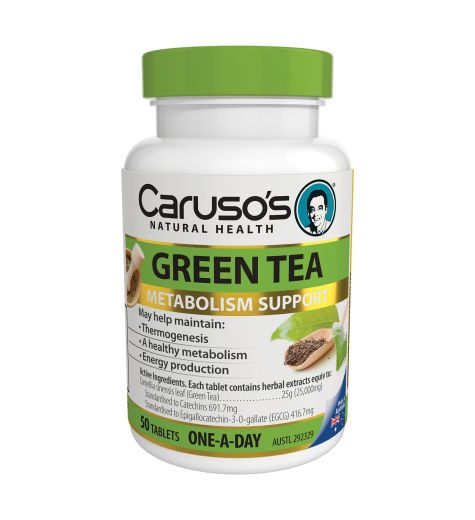 Caruso's Natural Health Green Tea 50 Tablets
