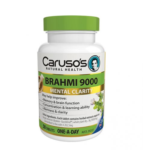 Caruso's Natural Health Brahmi 9000 50 Tablets