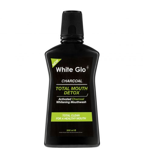 White Glo Activated Charcoal Total Mouth Detox Whitening Mouthwash 500ml