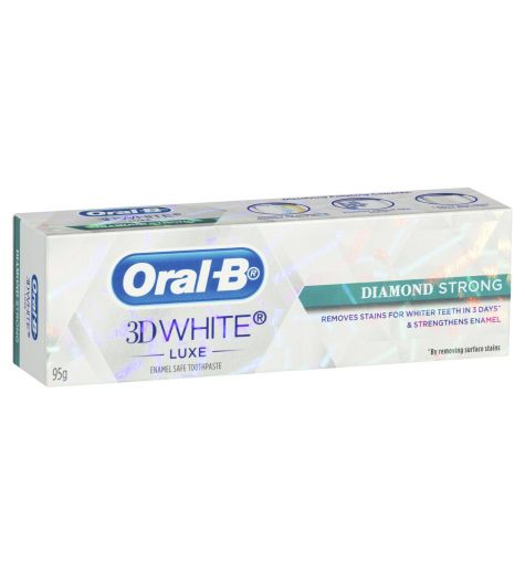 Oral-B 3D White Luxe Toothpaste Diamond Strong Dazzling Mint 95g