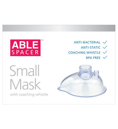 Able Spacer Small Mask With Coaching Whistle