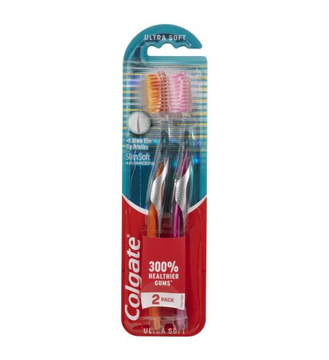 Colgate Slim Soft Ultra Soft Toothbrush 2 Pack