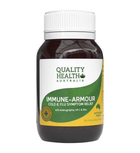 Quality Health Immune Armour Cold & Flu Symptom Relief 60 Tablets