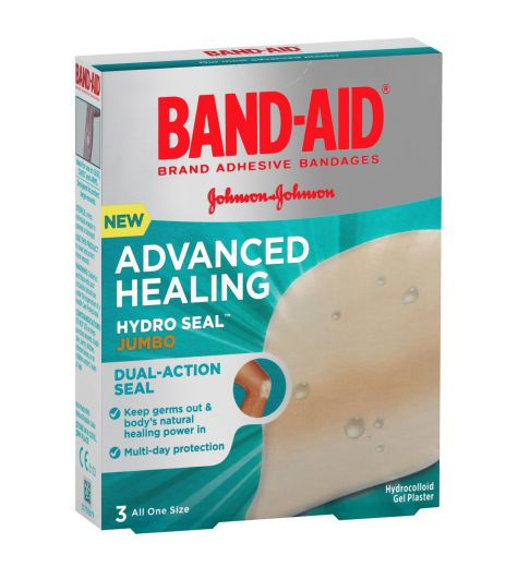 Band-Aid Advanced Healing Hydro Seal Jumbo Gel Plasters 3 Pack