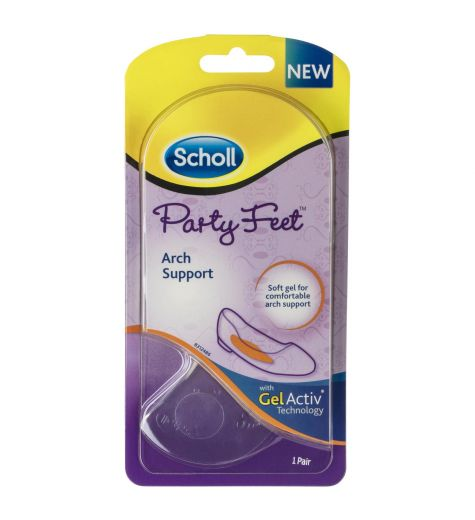 Scholl Party Feet Arch Support Gel Insoles