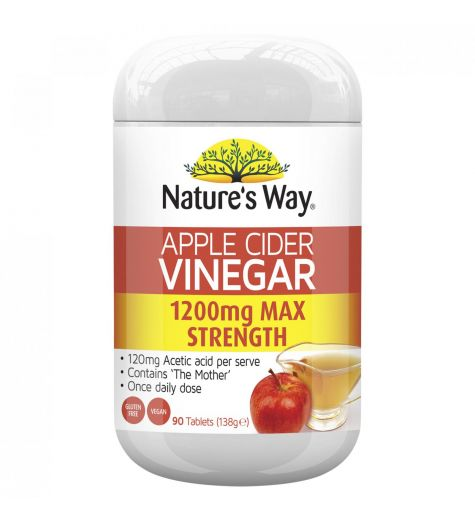 Nature's Way Superfoods Apple Cider Vinegar Max 1200mg 90s