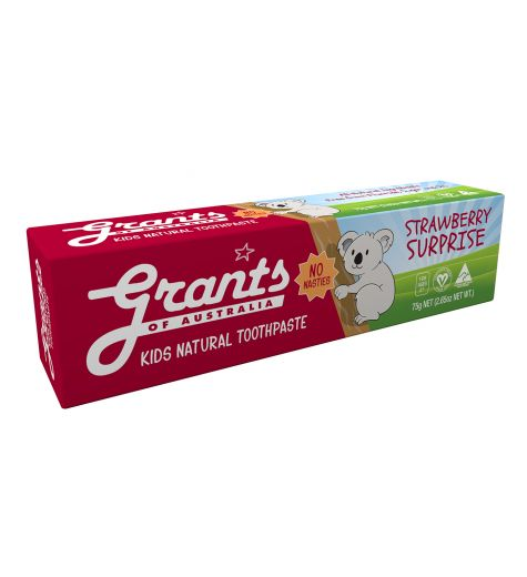 Grant's Kids Natural Toothpaste Strawberry Surprise 75g