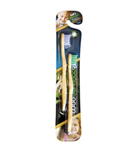 WooBamboo Kids Bamboo Toothbrush 2 Pack