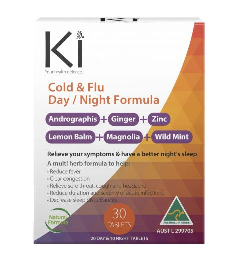 KI Cold & Flu Day/Night Formula 30 Tablets