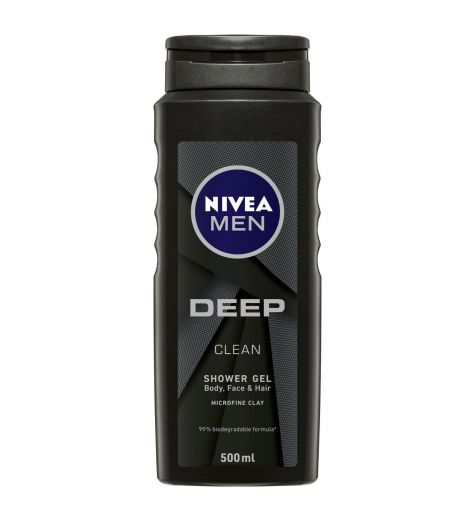 Nivea Men Deep Clean Shower Gel 500ml